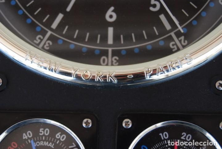 Relojes: RELOJ CONMEMORATIVO DE LA COLECCIÓN S.O.S.L. AIREFIELD WALL CLOCK A SPIRIT DE ST LOUIS. FUNCIONANDO - Foto 17 - 218569361