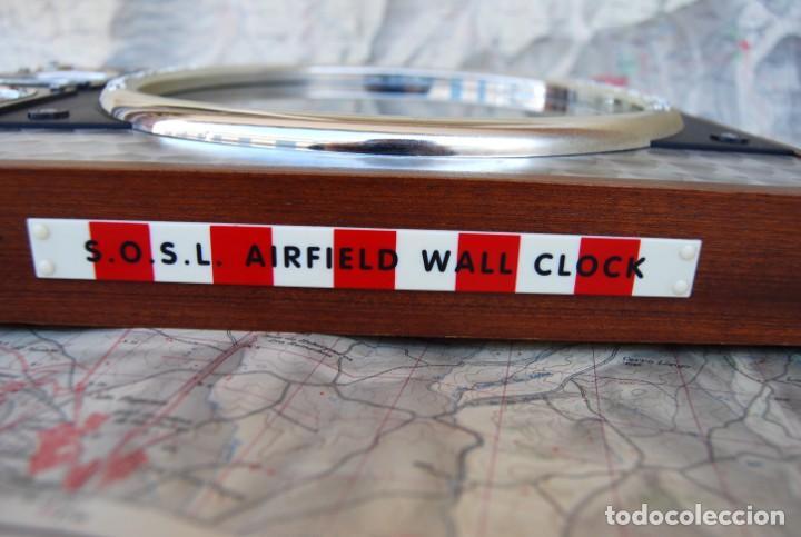 Relojes: RELOJ CONMEMORATIVO DE LA COLECCIÓN S.O.S.L. AIREFIELD WALL CLOCK A SPIRIT DE ST LOUIS. FUNCIONANDO - Foto 18 - 218569361