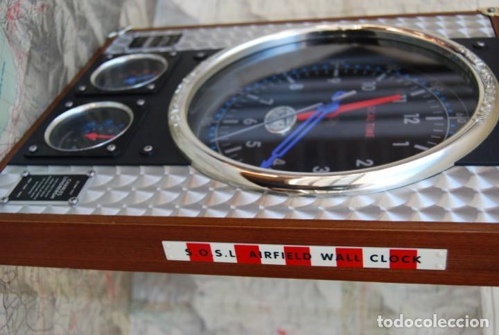 Relojes: RELOJ CONMEMORATIVO DE LA COLECCIÓN S.O.S.L. AIREFIELD WALL CLOCK A SPIRIT DE ST LOUIS. FUNCIONANDO - Foto 19 - 218569361