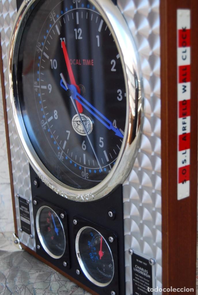 Relojes: RELOJ CONMEMORATIVO DE LA COLECCIÓN S.O.S.L. AIREFIELD WALL CLOCK A SPIRIT DE ST LOUIS. FUNCIONANDO - Foto 21 - 218569361