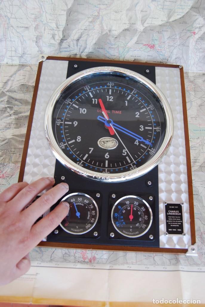 Relojes: RELOJ CONMEMORATIVO DE LA COLECCIÓN S.O.S.L. AIREFIELD WALL CLOCK A SPIRIT DE ST LOUIS. FUNCIONANDO - Foto 24 - 218569361