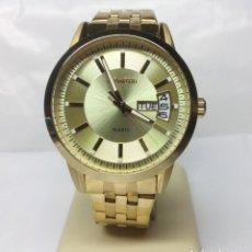 Relojes: RELOJ DUWARD CHAPADO EN ORO, CORREA DUWARD ORIGINAL - CAJA 42 CM - FUNCIONANDO. Lote 156250510