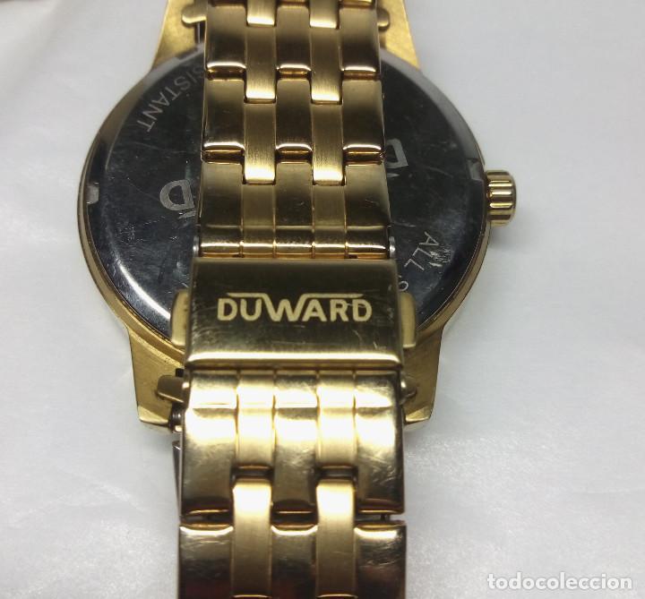 Relojes: RELOJ DUWARD CHAPADO EN ORO, CORREA DUWARD ORIGINAL - CAJA 42 cm - FUNCIONANDO - Foto 5 - 156250510