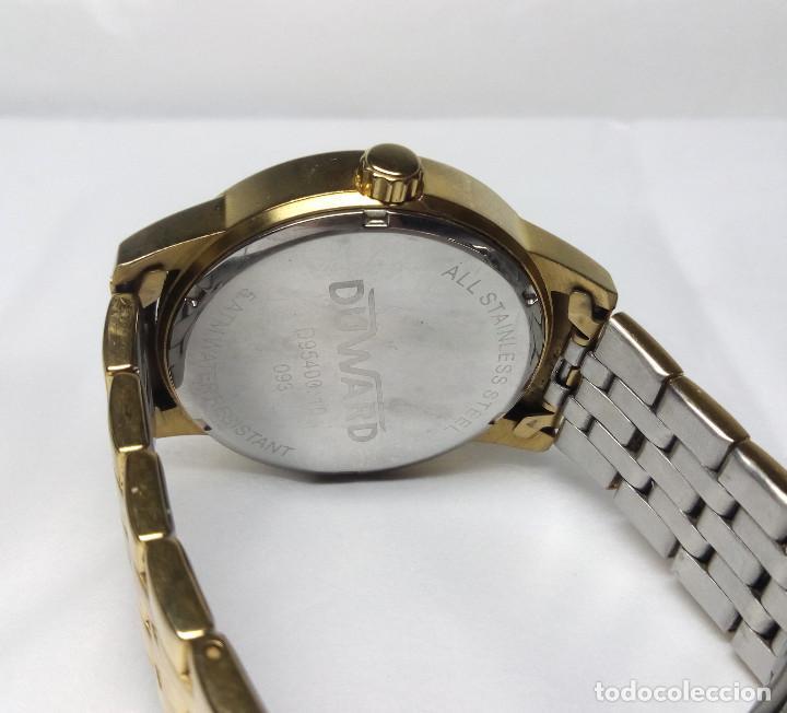 Relojes: RELOJ DUWARD CHAPADO EN ORO, CORREA DUWARD ORIGINAL - CAJA 42 cm - FUNCIONANDO - Foto 6 - 156250510
