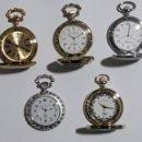 Relojes: COLECION 5 RELOJES DE BOLSILLO IMITACION ANTIGUOS. Lote 156315742