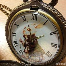 Relojes: RELOJ TEMATICO ALICIA PAIS MARAVILLAS-RABBIT. Lote 161524476