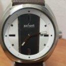 Relojes: RELOJ CABALLERO CUARZO AXCENT DE LA CASA RACER EN ACERO, ESFERA BLANCA Y NEGRA, CALENDARIO, CORREA . Lote 157968270