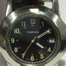 Relojes: RELOJ TOURNEAU SWISS MADE CRISTAL ZAFIRO QUARTZ EN ACERO TACHIMER. Lote 158434873