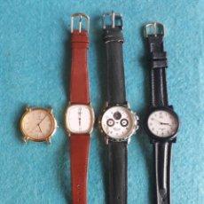 Relojes: LOTE DE 4 RELOJES DE CUARZO PARA CABALLERO. CITIZEN. THERMIDOR. VICEROY. Q&Q. Lote 158655674