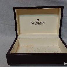Relojes: CAJA DE MADERA DE RELOJ MAURICE LACROIX SWITZERLAND . Lote 158788090