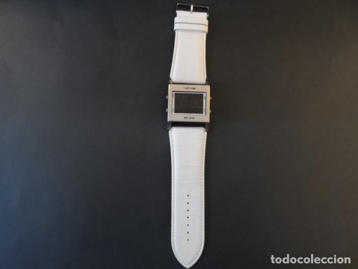 Relojes: RELOJ CORREA CUERO BLANCO Y ACERO. D & G. QUARTZ-DIGITAL SIGLO XXI - Foto 2 - 158792082