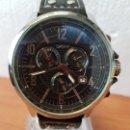 Relojes: RELOJ CABALLERO DKNY CUARZO CRONOGRAFO CON ESFERA NEGRA Y CALENDARIO A LAS CUATRO, CORREA DE CUERO. Lote 158451774