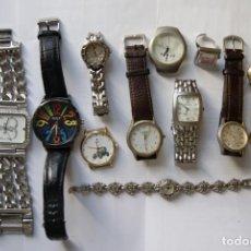 Relojes: LOTE DE 11 RELOJES QUARTZ SIN COMPROBAR F6. Lote 159094574