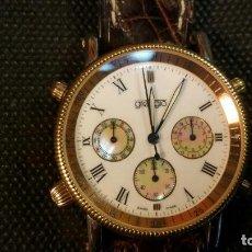 Relojes: RELOJ GREGGIO CHRONOGRAPH CRONOGRAFO QUARTZ MADE IN SWISS DISEÑO ITALIANO. Lote 159757822