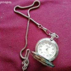 Relojes: RELOJ DE BOLSILLO CON CADENA. SISTEMA QUARTZ. AEROPLANO FOKKER. 2 TAPAS. Lote 159790566