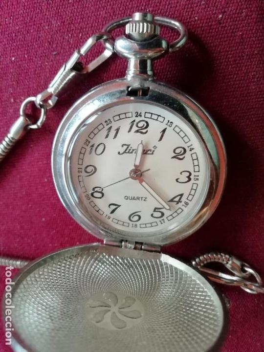 Relojes: Reloj de bolsillo con cadena. Sistema Quartz. Aeroplano Fokker. 2 tapas - Foto 3 - 159790566