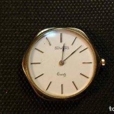 Relojes: RELOJ DUWARD QUARZ CHAPADO EN ORO FORMA EXAGONAL. Lote 159791282