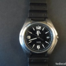 Relojes: RELOJ CORREA CAUCHO ACERO ESFERA NEGRA. ADIDAS. 10 ATM. QUARTZ SIGLO XXI. Lote 160175566