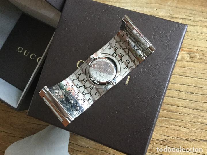Relojes: Espectacular Reloj Gucci de mujer tipo brazalete con documentación - Foto 6 - 160933026