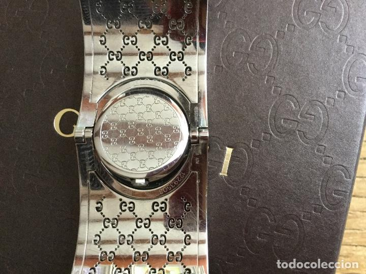 Relojes: Espectacular Reloj Gucci de mujer tipo brazalete con documentación - Foto 8 - 160933026