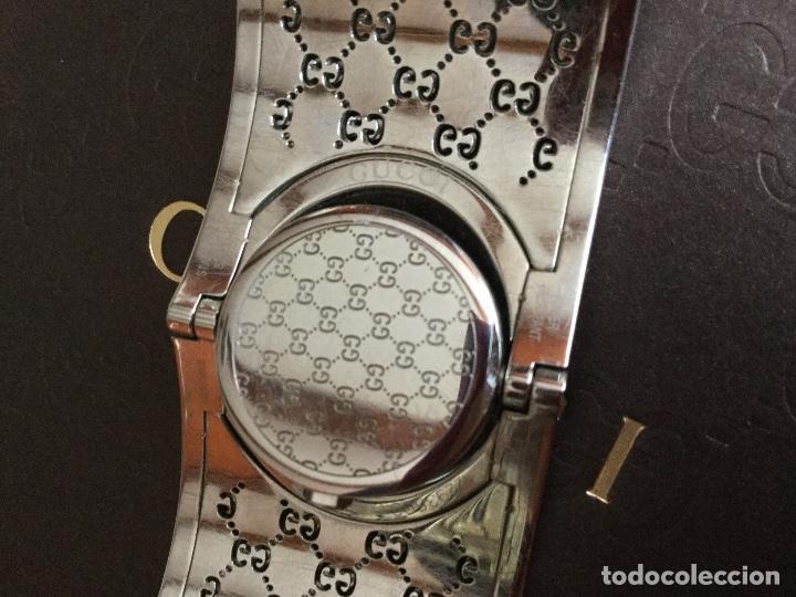 Relojes: Espectacular Reloj Gucci de mujer tipo brazalete con documentación - Foto 9 - 160933026