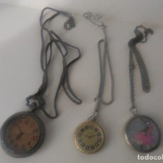 Relojes: 3 RELOJES DE BOLSILLO NECESITAN ARREGLOS Y PILAS . Lote 162501186