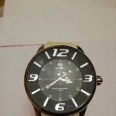 Relojes: RELOJ PULSERA MAREA ESFERA NEGRA CORREA BLANCA. Lote 162805178
