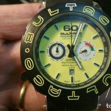 Relojes: RELOJ BULTACO CRONOGRAFO HERITAGE POLYCARBONATE QUARTZ CON ESTUCHE - FONDO DE TIENDA. Lote 163075722