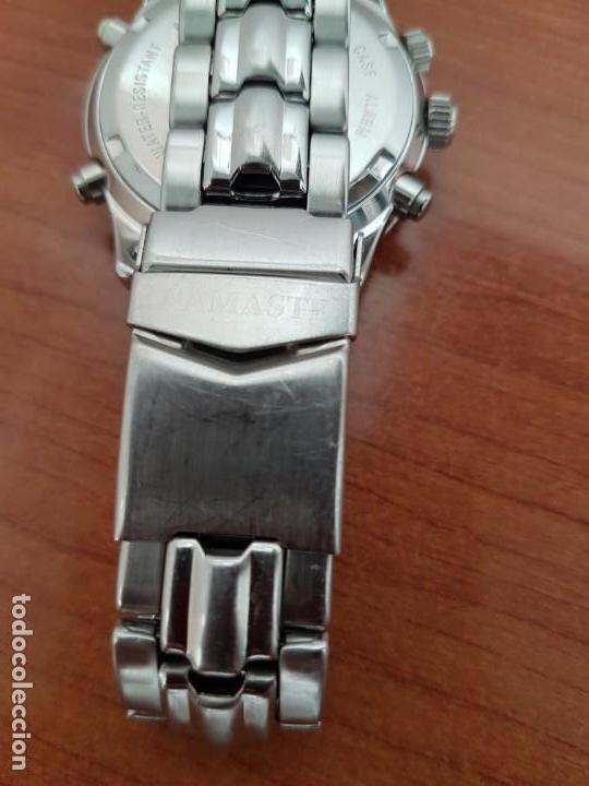 Relojes: Reloj caballero NAMASTE crono alarma de cuarzo acero con esfera amarilla, correa de acero original - Foto 9 - 163472178