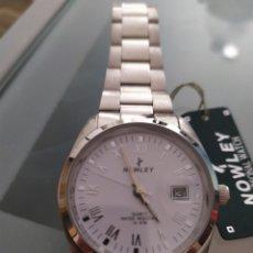 Relojes: RELOJ NOWLEY ACERO. NUEVO. Lote 163877626