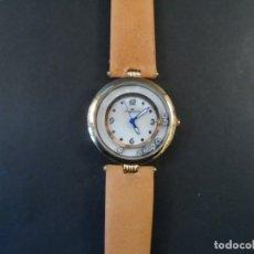 Relojes: RELOJ CORREA CUERO CAMEL DORADO. PHILIPPE BIGUET. ESFERA NACAR Y PIEDRAS. QUARTZ. SIGLO XXI. Lote 164622170