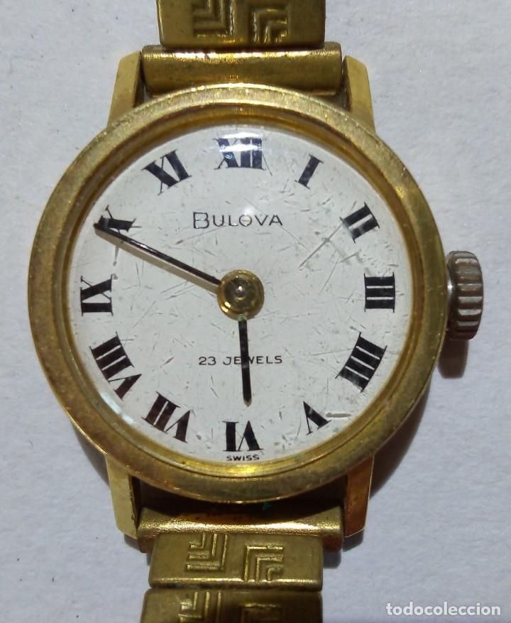 BULOVA. ESFERA 19 MMS. CORREA ROTA. FUNCIONA. (Relojes - Relojes Actuales - Otros)