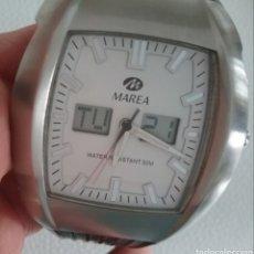 Relojes: RELOJ MARCA MAREA 40027, EN ACERO, CORREA DE CAUCHO, EN FUNCIONAMIENTO.. Lote 165254470