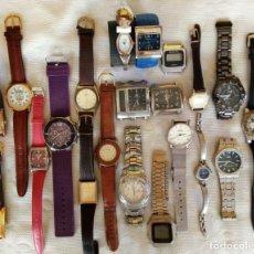 Relojes: LOTE DE 21 RELOJES DE DIFERENTES MARCAS.. Lote 166035790