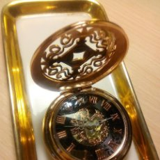 Relojes: RELOJ MECANICO BAÑO DORADO COLOR ORO ROSA. Lote 167118312
