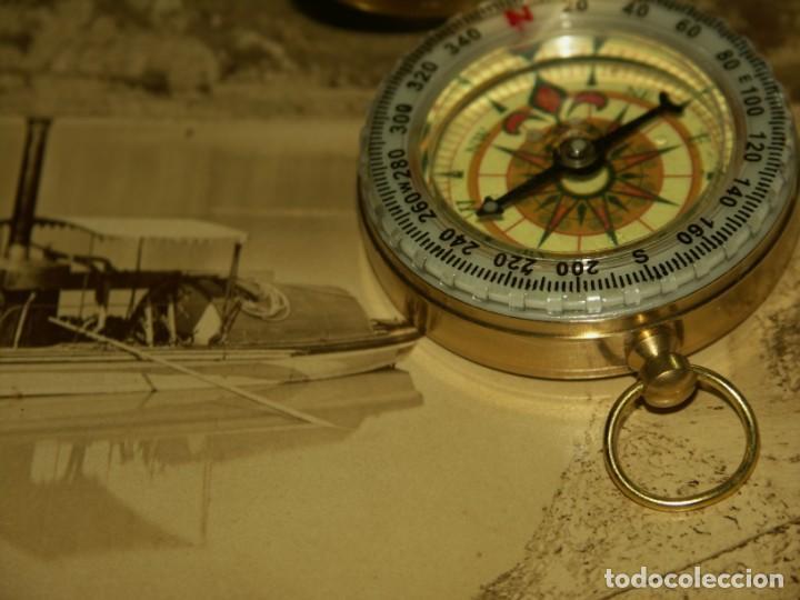 Relojes: Brujula formato reloj bolsillo de Precision bañada en aceite. - Foto 2 - 217658900