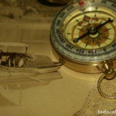 Relojes: BRUJULA FORMATO RELOJ BOLSILLO DE PRECISION BAÑADA EN ACEITE.. Lote 190760335