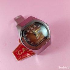 Relojes: 9872/RELOJ-CAUNY PRIMA AUTOMATIC-25 RIBÍS-SWISS-33X33 MM-SEÑORA-NOS-ETIQUETA-MARRÓN TORNASOL-COLECC. Lote 167826421