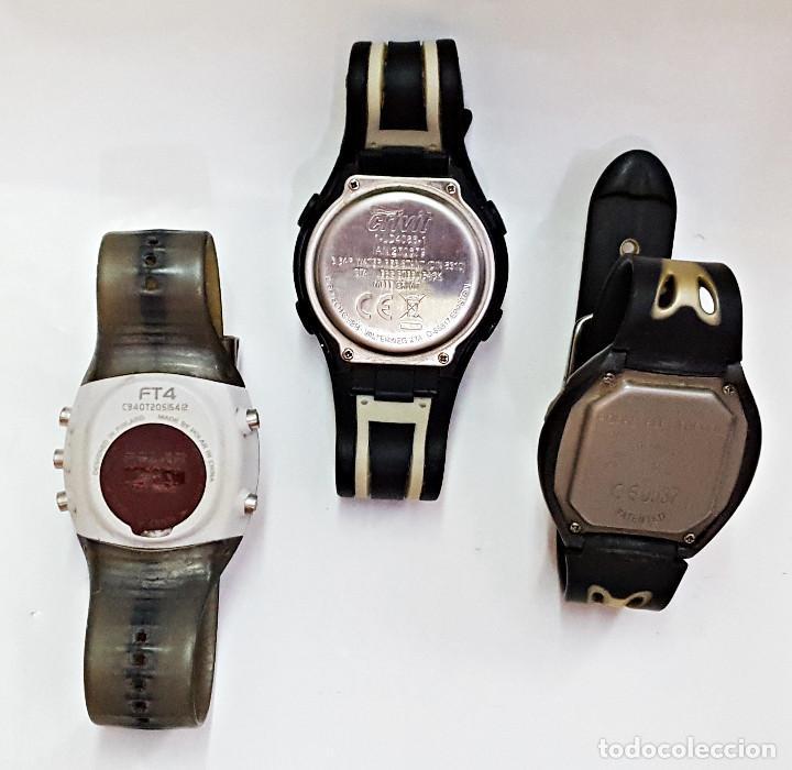 Relojes: Lote de 3 RELOJES 2 POLAR y 1 CRIVIT.. - Foto 2 - 167989124