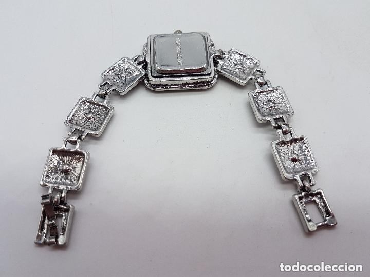 Relojes: Bello reloj de estilo art decó con baño en plata de ley . - Foto 5 - 168064188