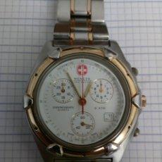 Relojes: CRONOGRAFO WENGER S.A.K DESING 42,5MM TODO ACERO INOX RELOJ GRANDE FUNCIONANDO. Lote 168264336