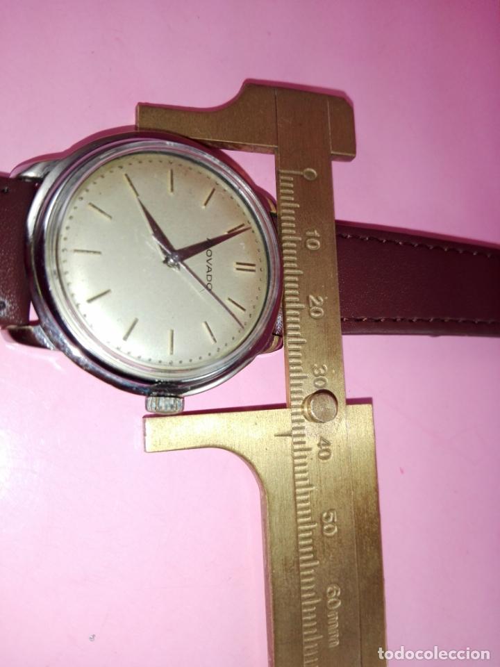 Relojes: RELOJ-MOVADO-CUERDA-37 MM.TOTAL-BUEN ESTADO GENERAL-2 CORREAS-1 PIEL DE LAGARTO NEGRA-VER FOTOS - Foto 13 - 144909606