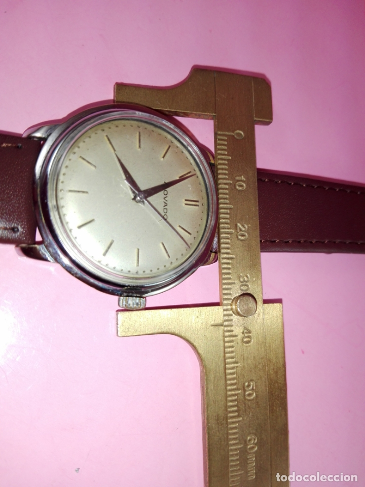 Relojes: RELOJ-MOVADO-CUERDA-37 MM.TOTAL-BUEN ESTADO GENERAL-2 CORREAS-1 PIEL DE LAGARTO NEGRA-VER FOTOS - Foto 14 - 144909606