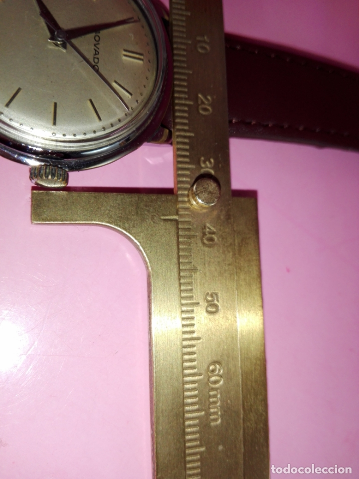 Relojes: RELOJ-MOVADO-CUERDA-37 MM.TOTAL-BUEN ESTADO GENERAL-2 CORREAS-1 PIEL DE LAGARTO NEGRA-VER FOTOS - Foto 15 - 144909606
