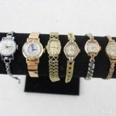 Relojes: LOTAZO DE 8 RELOJES DE MUJER ANTIGUOS, TODOS FUNCIONANDO, DOS DE ORO MACIZO DE 9 Y 10 KT. Lote 168815884