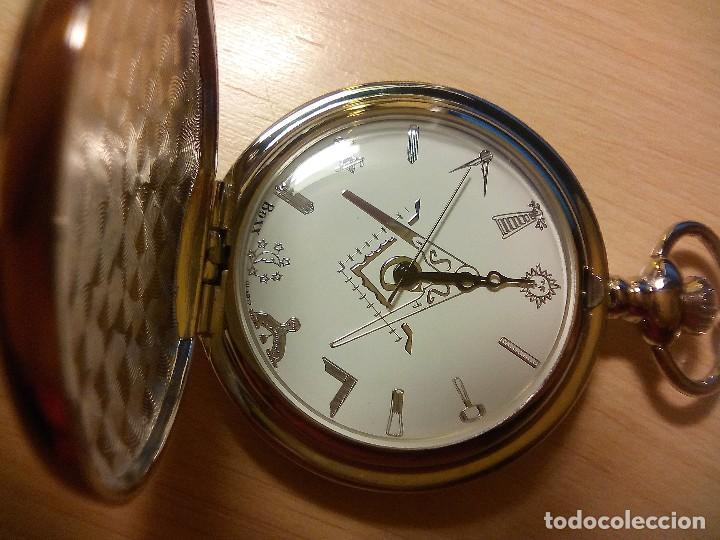 RELOJ TEMATICO INGLES MASONICO. (Relojes - Relojes Actuales - Otros)