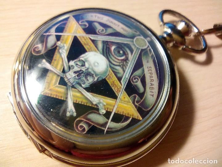Relojes: RELOJ TEMATICO INGLES MASONICO. - Foto 2 - 170010684
