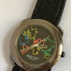 Relojes: RELOJ VINTAGE BENETTON BY BULOVA QUARTZ UNITED COLORS OF BENETTON. Lote 170931932