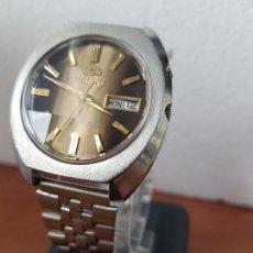 Relojes: RELOJ DE CABALLERO (VINTAGE) AUTOMÁTICO ORIENT DE ACERO, ESFERA MARRÓN CON DOBLE CALENDARIO, CORREA . Lote 171113353