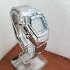 Relojes: RELOJ CABALLERO DIGITAL ACERO LORUS FUSIÓN DE CUARZO, ALARMA DOBLE, CRONO, LUZ, FECHAS, CORREA ACERO. Lote 171126398
